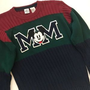 Vintage Mickey Mouse Colorblock Sweater